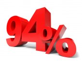 Red ninety four percent off. Discount 94. — Stock Photo