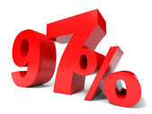 Red ninety seven percent off. Discount 97. — Stock Photo