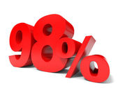 Red ninety eight percent off. Discount 98. — Stock Photo
