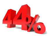 Red forty four percent off. Discount 44. — Stock Photo