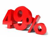 Red forty nine percent off. Discount 49. — Stock Photo