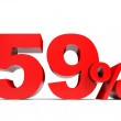 Red fifty nine percent off. Discount 59. — Stock Photo #60989989
