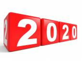 2020 New Year cubes. — Stock Photo