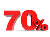 Red seventy percent off. Discount 70. — Stock Photo