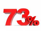 Red seventy three percent off. Discount 73. — Stock Photo