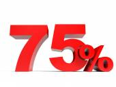 Red seventy five percent off. Discount 75. — Stock Photo