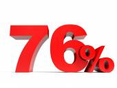 Red seventy six percent off. Discount 76. — Stock Photo