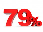 Red seventy nine percent off. Discount 79. — Stock Photo