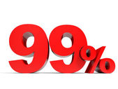 Red ninety nine percent off. Discount 99. — Stock Photo