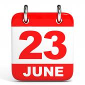 Calendar. 23 June. — Stock Photo