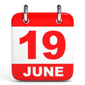 Calendar. 19 June. — Stock Photo