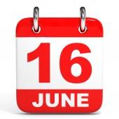 Calendar. 16 June. — Stock Photo