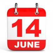 Calendar. 14 June. — Stock Photo