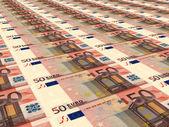 Euro background. Fifty euros. — Stock Photo