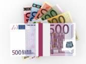 Montones de dinero de euros. — Foto de Stock