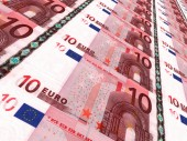 Euro background. Ten euros. — ストック写真