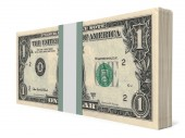 Pack of banknotes. One dollar. — Stock Photo