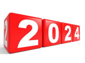 2024 New Year cubes. — Stock Photo