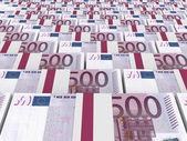 Stacks of money. Five hundred euros. — Stock Photo