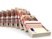Stacks of money. Fifty euros. — Stock Photo