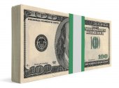 Pack of banknotes. One hundred dollars. — Stock Photo