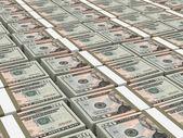 Stacks of money. Twenty dollars. — Stock Photo