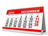 Календарь декабря 2016. — Стоковое фото