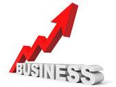 Grafico su freccia di affari. — Foto Stock