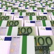 Stacks of money. One hundred euros. — Stock Photo #69547117
