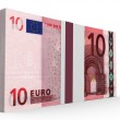 Pack of banknotes. Ten euros. — Stock Photo #69552479