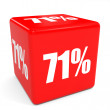 3D red sale cube. 71 percent discount. — Stock Photo #69554767