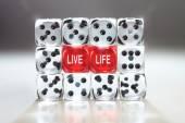 Live life everyday concept. — Stock Photo