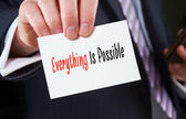 Everything Is Possible, Life Concept — Stock Photo