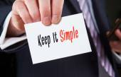 Keep It Simple, Business Concept — Stock Photo