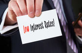 Low Interest Rates concept — Stock Photo