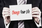 Change Your Life, Positivity Concept — Stockfoto