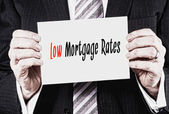 Low Mortgage Rates Concept — Stock Photo