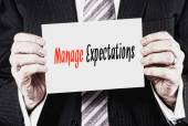 Manage Expectations, Business Concept — Stock Photo