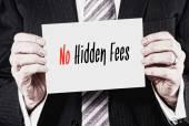Żadnych ukrytych opłat, koncepcja biznesowa — Zdjęcie stockowe