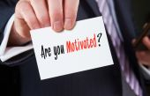 Are You Motivated? written on card — Stockfoto