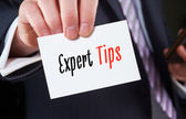 Expert Tips, Advice Concept. — Stock Photo