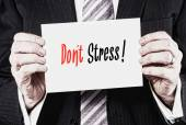 Don't Stress Concept on business card — Stock Photo