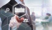 Creativity Concept button — Stock Photo
