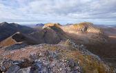 I wychodzi na szczyt Beinn Eighe — Zdjęcie stockowe