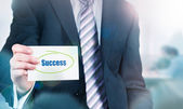 Success Concept on card — Stock Photo
