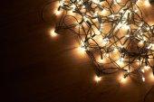 Traditional Christmas Tree lights — Stock Photo
