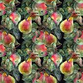Elma ve armut, desen — Stok fotoğraf
