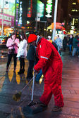 Worker on the New York Times Square — Stock Photo
