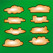 Illustration messages in the form of clouds. Icon set. Vector. — Stock Vector