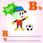 Word B is for Boy — Stock Vector